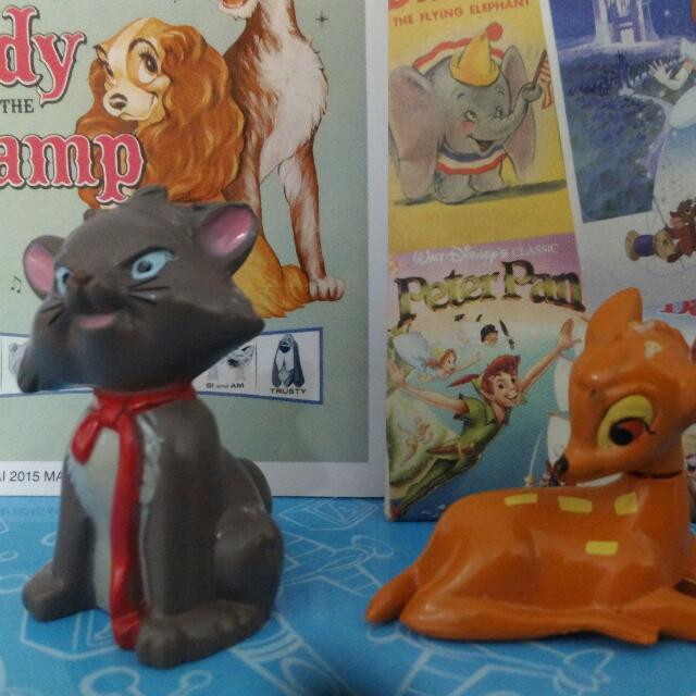 迪士尼盒玩 扭蛋 小鹿斑比 瑪莉貓 瑪麗貓