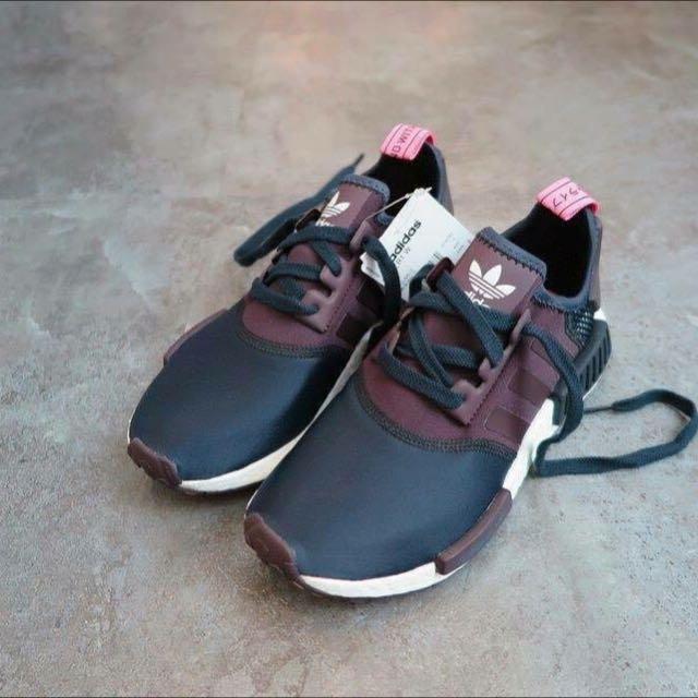 Adidas NMD 墨汁色x粉紅色 UK7