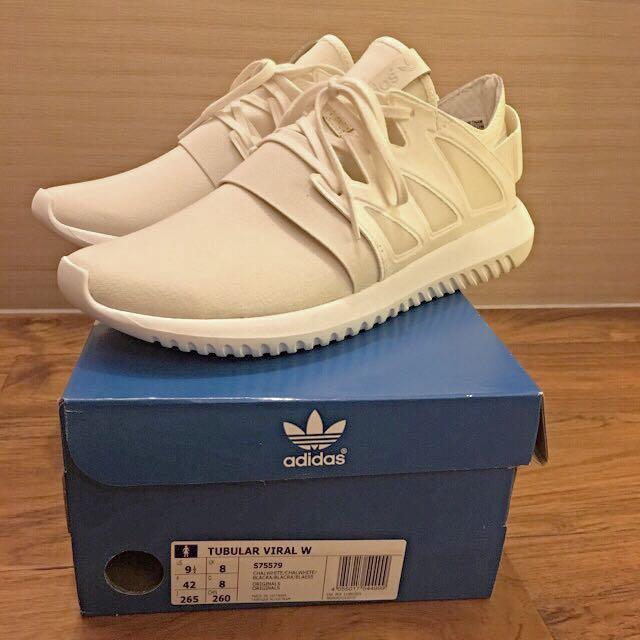 愛迪達Adidas Tubular Viral 白 球鞋