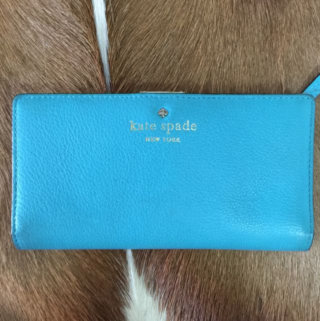 Authentic Kate Spade Turquoise Wallet