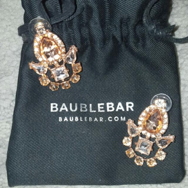 Bauble Bar Rose Gold Statement Earrings *REDUCED*