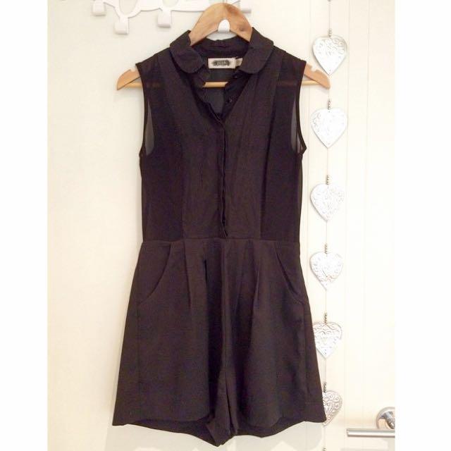 Black Sheer Jumpsuit