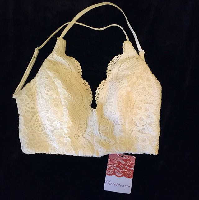 Brand New With Tags Lace Halter Crop Size 8