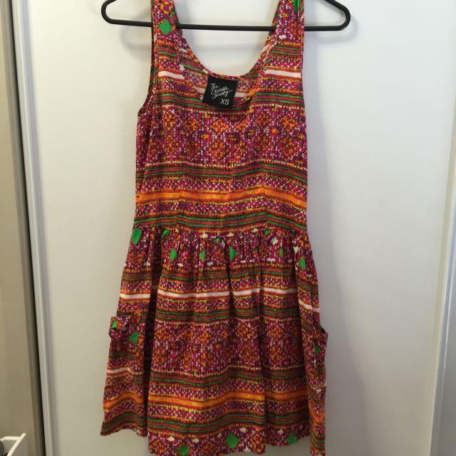 Casette Society Multi- Coloured Mini Dress