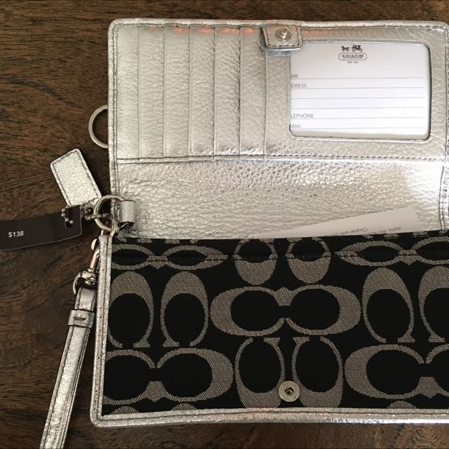 Coach Silver/Black Wallet