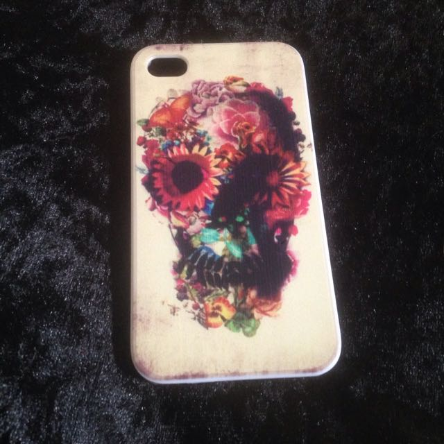 Floral Skull iPhone 4 Case