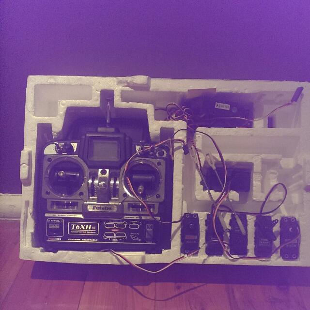 Futaba 6 Channel Radio Control System Plus Servos