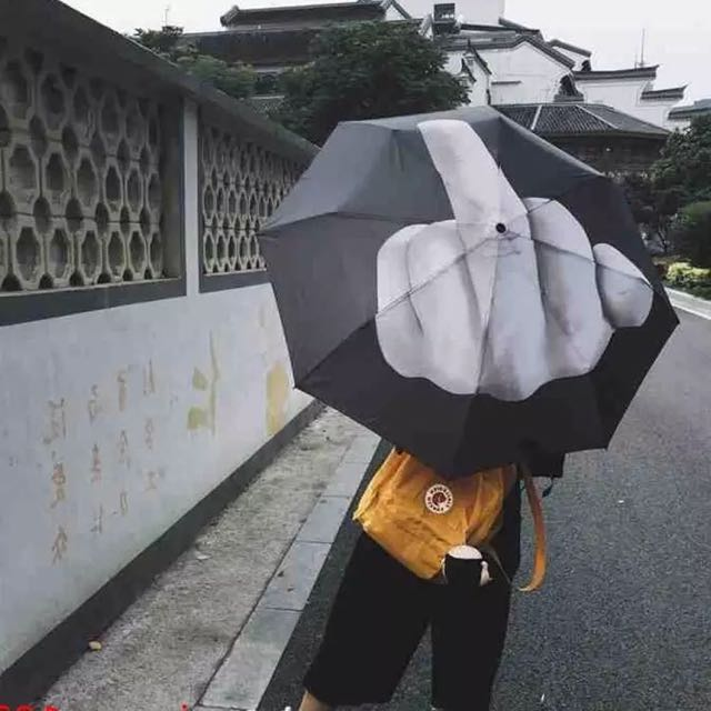 Fuxk Rain Middle Fingers Umbrella 中指雨傘