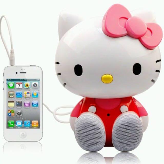 正版Hello Kitty授權遙控帶遙控2.1重低音音箱可插卡/USB/電腦