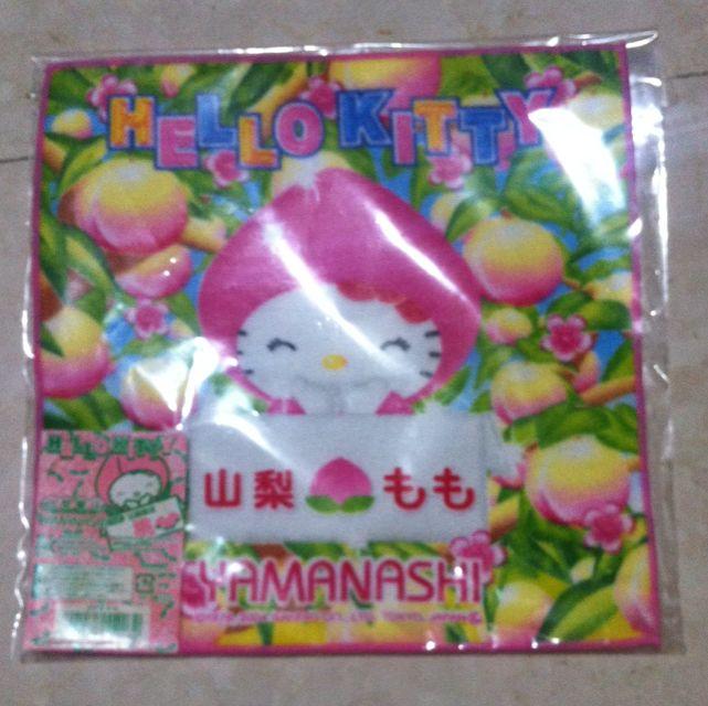 日本hello Kitty水蜜桃方巾