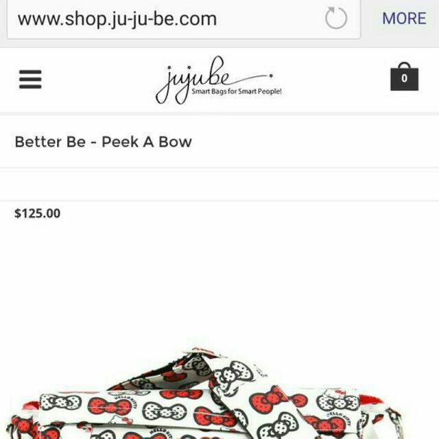 Hello Kitty Jujube Diaper Bag