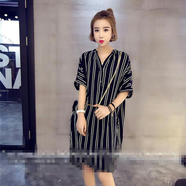 JKYKE05397新款條紋襯衣(黑色)