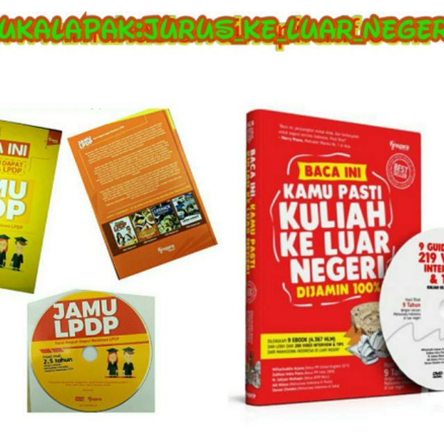 Jual Kamu Pasti Lolos Beasiswa LPDP Luar Negeri Dengan Paket Ini! Buku + DVD JKLN & JAMU LPP Baru | Buku Pengembangan Diri Best Seller Murah