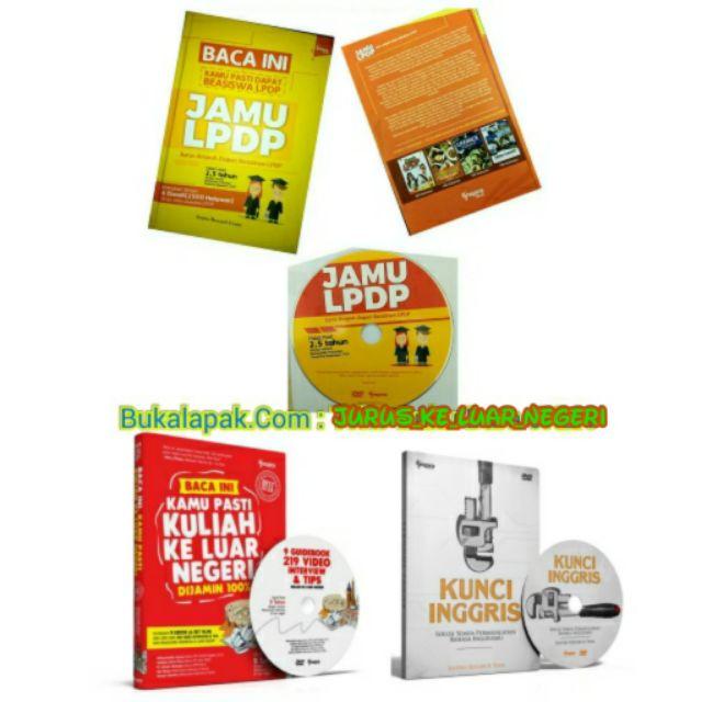 Jual Paket Super Fantastis Jago Bahasa Inggris & Lolos Beasiswa LPDP Luar Negeri! Buku + DVD JKLN + Kunci Inggris + JAMU LPDP Termurah! Baru | Buku Pengembangan Diri Best Seller Murah