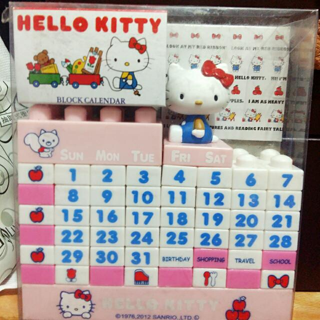 KITTY 桌上型積木月曆 日本帶回
