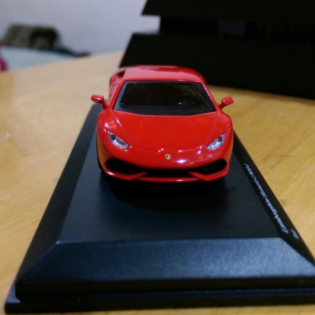 Kyosho 京商 壓克力精緻版  Lamborghini Huracan LP610-4 紅色小牛 1/64 模型車 Ferrari 法拉利 可參考