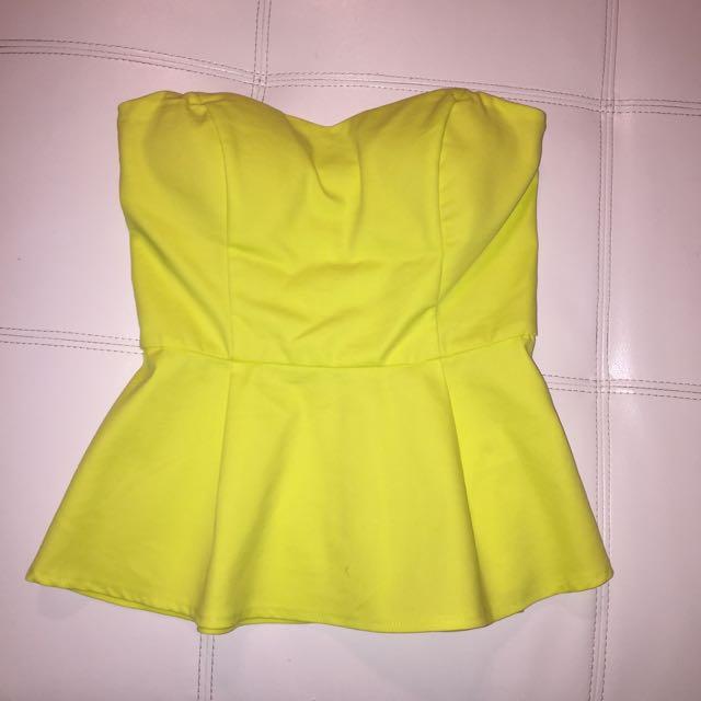 Lime Peplum Shirt