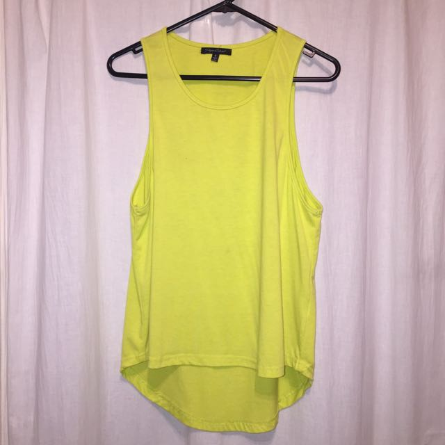 Lime Skull Cut Out Singlet