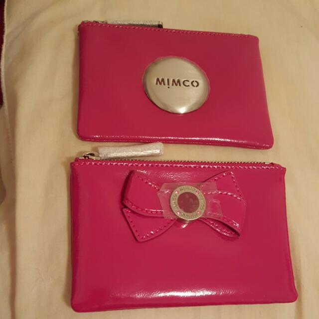 MIMCO PINK SMALL POUCHES