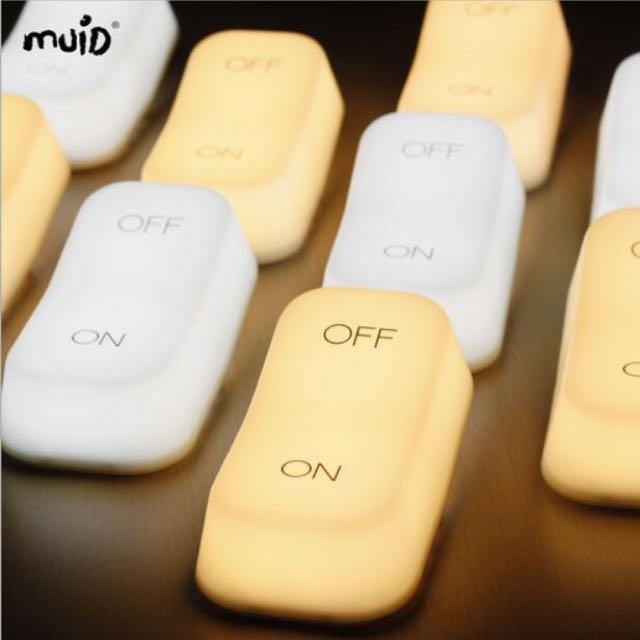 MUID重力感應燈ON-OFF開關燈創意氛圍燈節能臥室床頭餵奶小夜燈