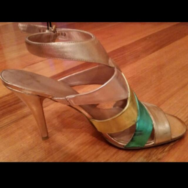"""Nine West - """"Man Made Material"""" Heels, Size 10M"""