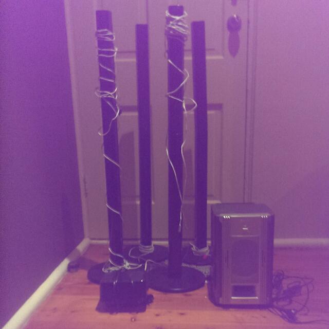 Panasonic Tower Speakers Plus Sony Subwoofer