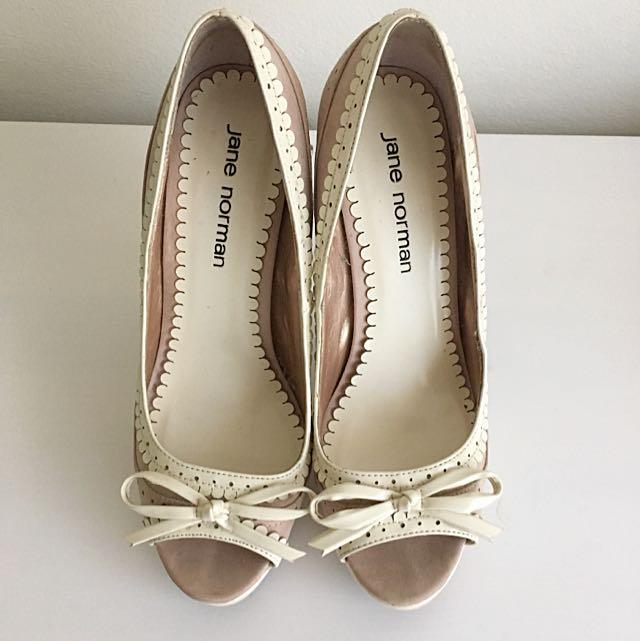 Size 38 Jane Norman Platform Peeptoes