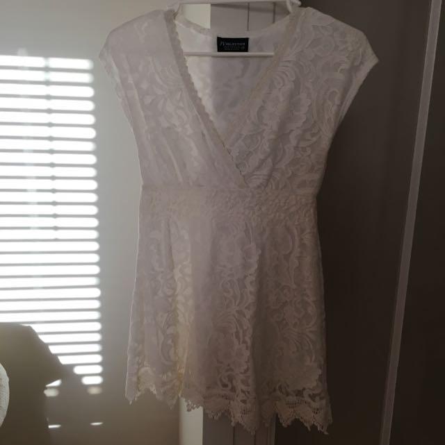 Size 8 White Lace Dress