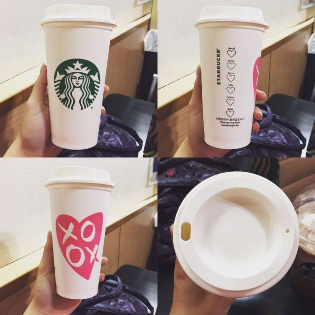 Starbucks 星巴克💕情人節限定超可愛環保杯