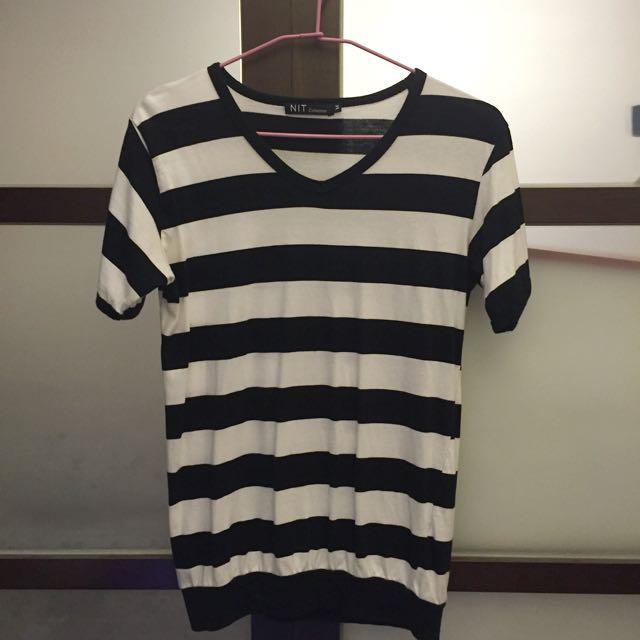 Stripe V-neck Shirt