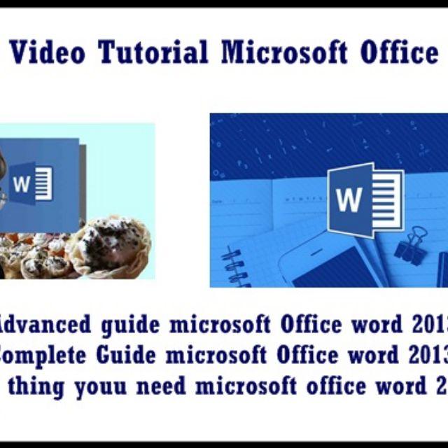 Video Tutorial Microsoft Office Word 2013 Murah