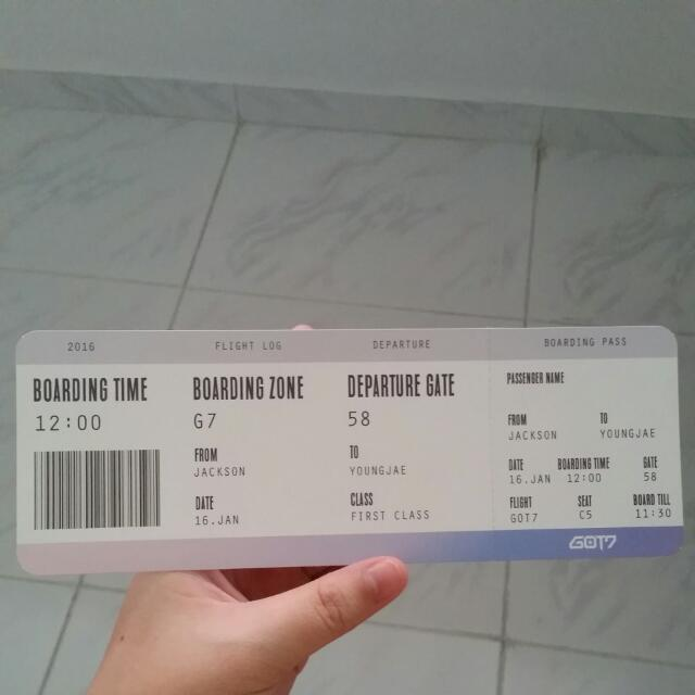 <WTT>boarding pass
