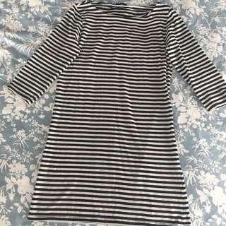 Topshop Stripey Mini Dress Au 12/14