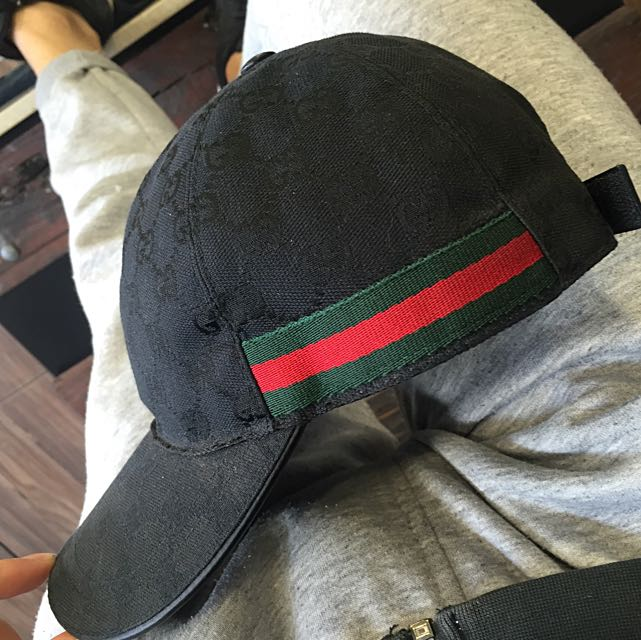 100% Real Black Edition Gucci Hat e46d164aaaff