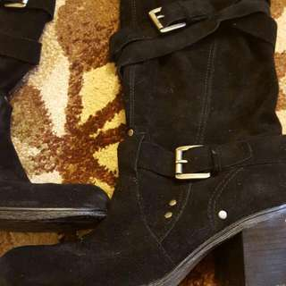 Suede Boots Size 10