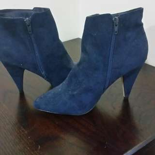 Girl Express Blue Ankle Boots Size 9