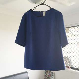 Blue Fitting Top