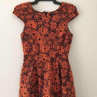 Orange / Navy Jumpsuit Size 6/8