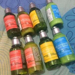 歐舒丹旅行組 沐浴洗髮潤髮乳液