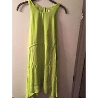 Cameo Neon Green Dress
