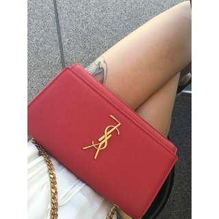 AUTHENTIC YSL MEDIUM RED BAG