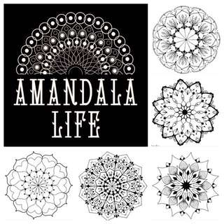 Amandala Life - Mindful Mandala Coloring In Book