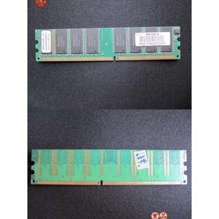 二手桌上型電腦256MB RAM良品,貼紙上有註明亞銳士臨時記憶體只要30元,如要寄送運費+65元