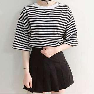 黑色百折裙