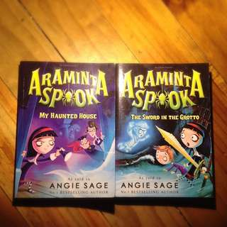 Araminta Spook Books 1 And 2 By Angie Sage