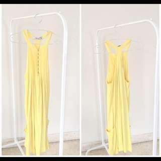 Preloved Zara Pale Yellow Racerback Dress