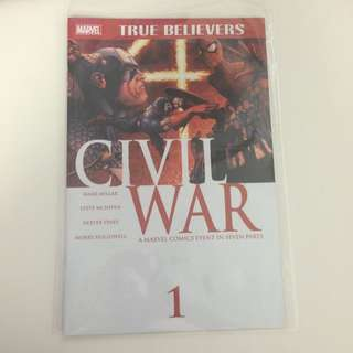 Marvel Comics Civil War Issue 1 Comic