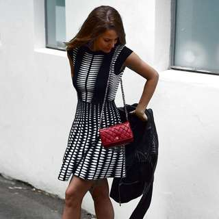 Zara Black And White Knit Dress