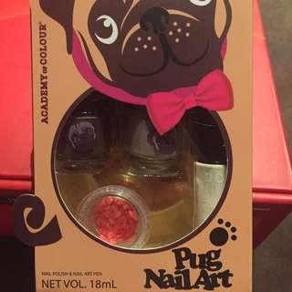 Pug Nail Art