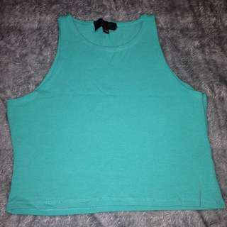 Blue/Green Crop Top Size L